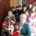 В гостях у ветерана ВОВ Неженец Козьмы Григорьевича
